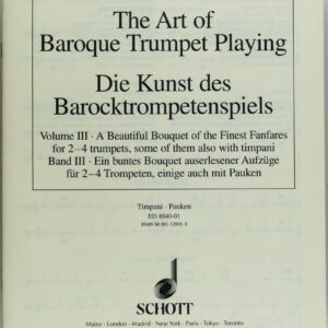 Die Kunst des Barocktrompetenspiels, Band 3, Begleitende Paukenstimme